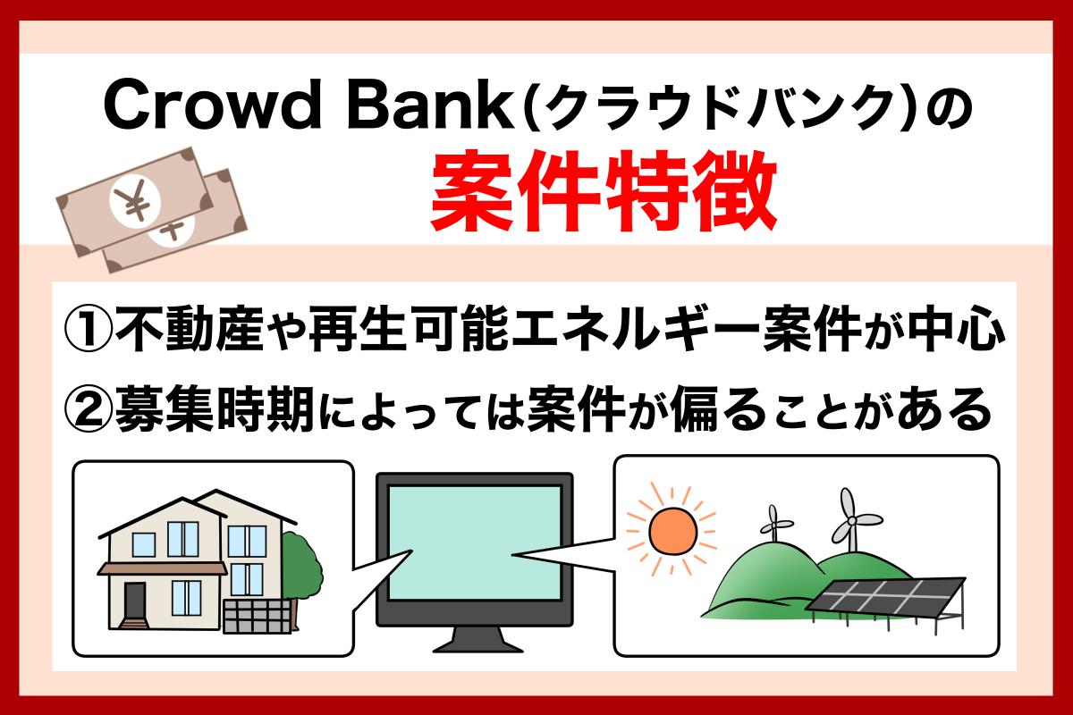 Crowd Bank(クラウドバンク)の案件の特徴