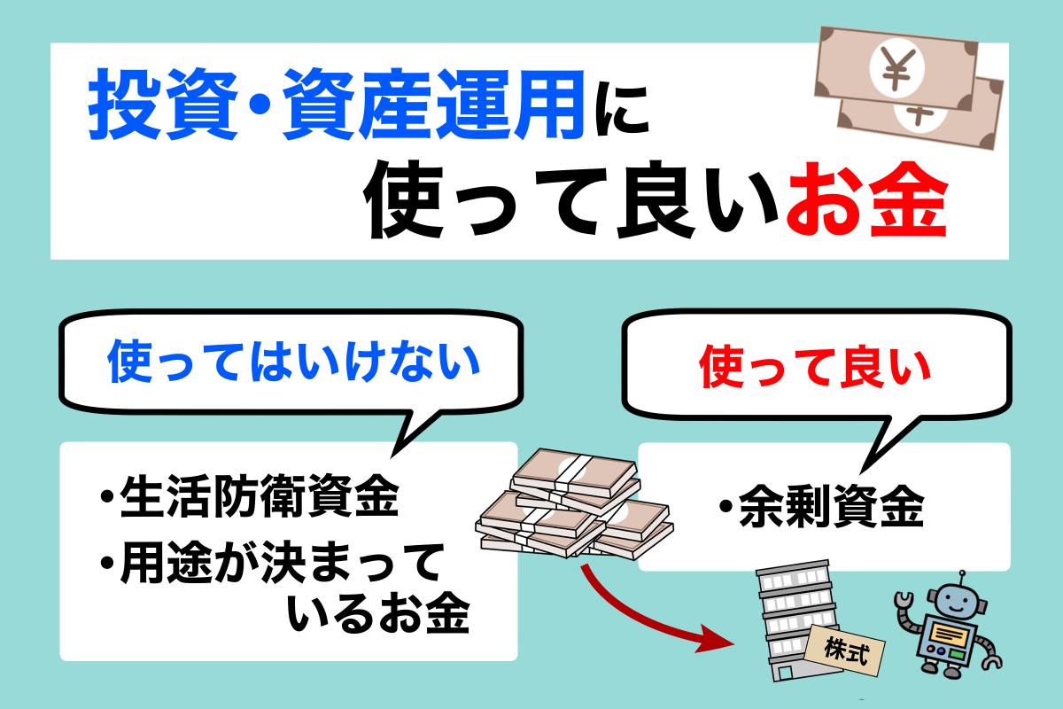 お金の種類と初心者が資産運用に使える金額