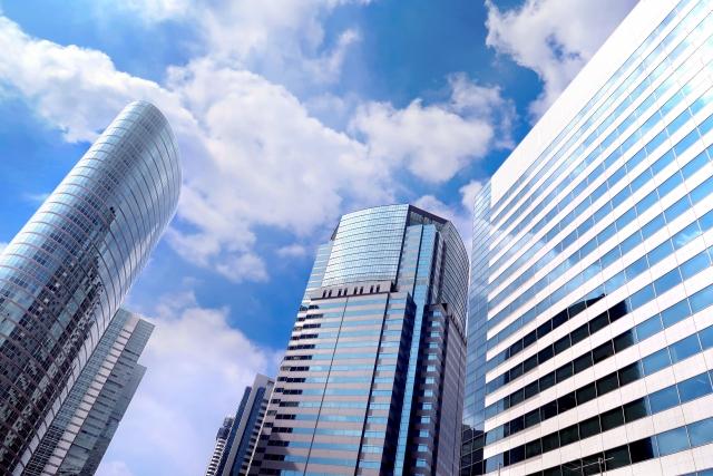 日本のビジネス街