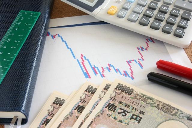 電卓と現金