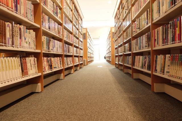 多くの本がある図書館