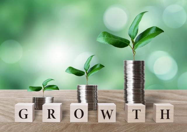 成長しているお金の芽
